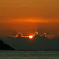 06.07鳩浜の夕焼け