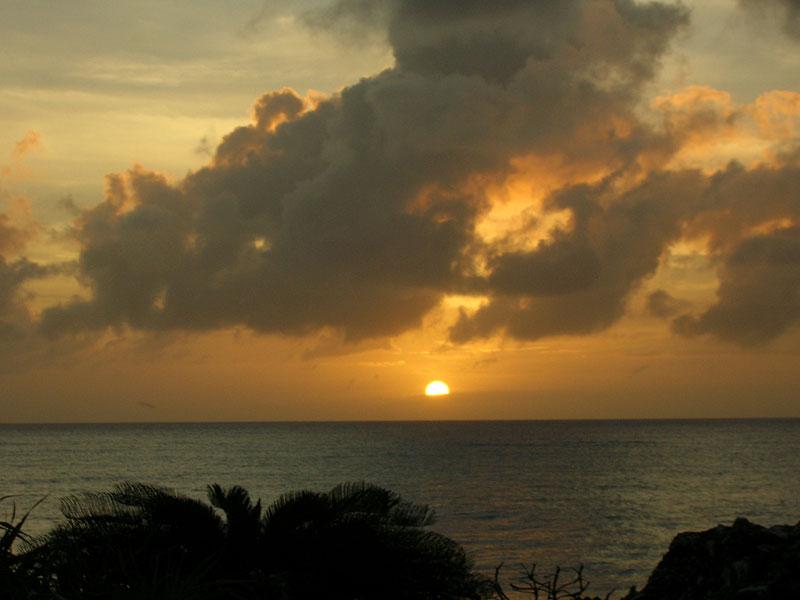 与論島の夕陽3