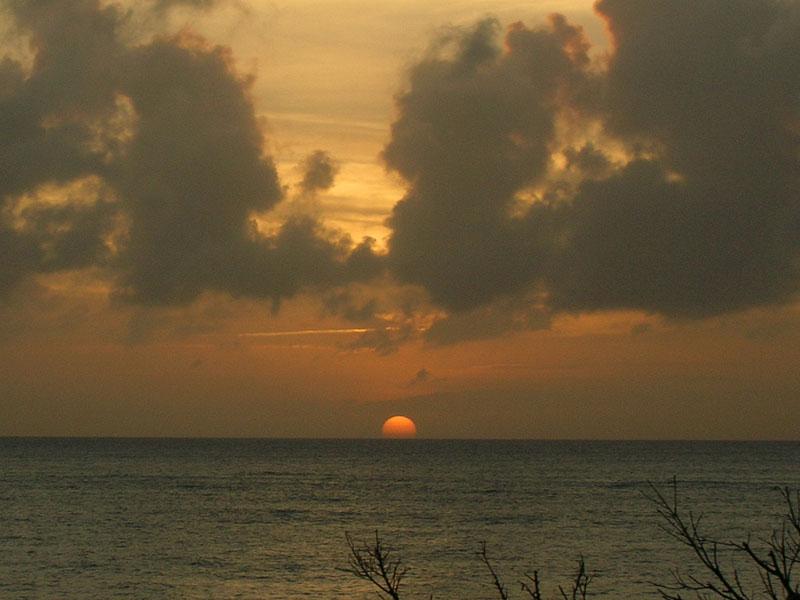 与論島の夕陽1