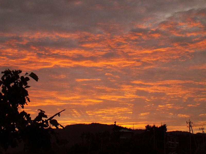 07.06梅雨明け直前の夕焼け2